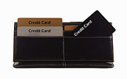 Debt Prints - Credit Cards Print by Blink Images