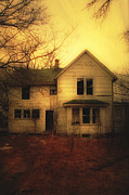 Creepy Abandoned House Print by Jill Battaglia
