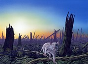 The Sun Rising Prints - Cretaceous-tertiary Extinction Event Print by Richard Bizley