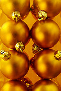 Orange Ball Prints - Crhistmas Decorations Print by Carlos Caetano