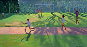 Children Playing Paintings - Cricket Sri Lanka by Andrew Macara