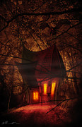 Forest Terror Prints - Crooked House Print by Svetlana Sewell