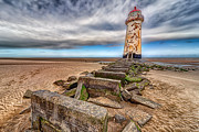 Talacre Digital Art Acrylic Prints - Crooked Lighthouse  Acrylic Print by Adrian Evans