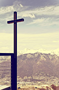 Cross Photo Metal Prints - Cross in the sky Metal Print by Joana Kruse