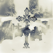 Grave Framed Prints - Cross Framed Print by Joana Kruse
