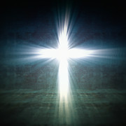 Jesus Christ Icon Prints - Cross Light Print by Gualtiero Boffi
