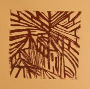 Lino Cut Metal Prints - Cross Way Metal Print by Christiane Schulze