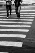 Crosswalk Photo Metal Prints - Crossing Metal Print by Gabriela Insuratelu