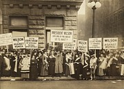 Activists Framed Prints - Crowd Of Womens Suffrage Supporters Framed Print by Everett