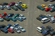 Locations Prints - Crowded carpark full of cars Print by Sami Sarkis