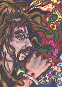 Great Britain Pastels - Crown of Thorns by Derrick Hayes