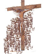 Catholic Art Photo Originals - Crucifixion by J erik Leiff