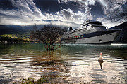 Luxury Digital Art Originals - Cruise ship by David Stefanov