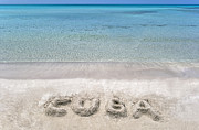 Write Prints - Cuban beach. Print by Fernando Barozza