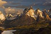 Mountain Photos - Cuernos Del Paine And Lago Pehoe by Colin Monteath