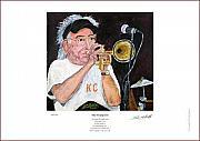 Peter Mark Butler - Cuff Billett on Trumpet - Giclee Print