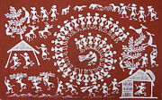 Warli Paintings - Cultivation by Blacred Art