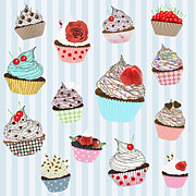 Strawberry Art Metal Prints - Cupcake  Metal Print by Setsiri Silapasuwanchai