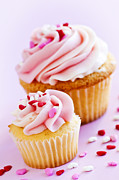 Large Metal Prints - Cupcakes Metal Print by Elena Elisseeva