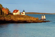 New England Lighthouse Posters - Curtis Island Light Poster by Brian Jannsen