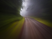Curve In The Road Blur Print by Ed Book