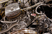 Custom Automobile Photos - Custom Car Chromed Engine by Oleksiy Maksymenko