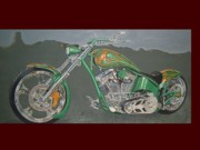 Suzuki Paintings - Custom Chopper by Brandon Ramquist