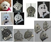 Portraits Jewelry - Custom silver portrait dog tag by Michelle  Robison