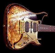 Reproduction Pyrography Originals - Custom VIGIER Guitar by Dino Muradian
