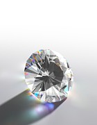 Caustic Prints - Cut Diamond With Colour Refractions Print by David Parker