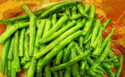 Cut Green Beans Print by Ron Bissett