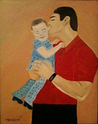 Portfolio Paintings - Daddys girl by Travianno