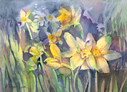 Daffodils Posters - Daffodils Poster by Arline Wagner