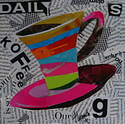 News Mixed Media Posters - Daily Koffee  Poster by Lynn Chatman