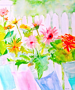 Gerbera Daisy Paintings - Daisy Daisy by Beth Saffer