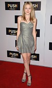 Gray Dress Posters - Dakota Fanning At Arrivals For Push Poster by Everett
