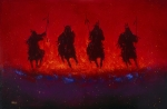 Lakota Paintings - Dakota Thunder by Donald Brewer