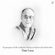 World Leaders Digital Art - Dalai Lama 01 by Van Jon