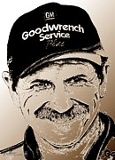 Mccombie Mixed Media - Dale Earnhardt Sr in 2001 by J McCombie