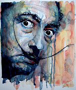 Watercolor  Paintings - Dali by Paul Lovering