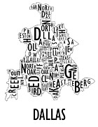 Metroplex Posters - Dallas Neighborhoods Poster by Benjamin Kerr