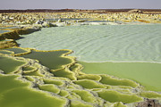 Craters Prints - Dallol Geothermal Area, Danakil Print by Richard Roscoe