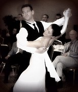 Ballroom Posters - Dance with Me Poster by Lori Seaman