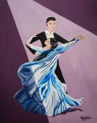Ballroom Painting Originals - Dance with Me by Monica  Webster
