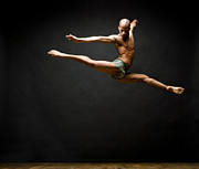 Ballet Dancer Photo Posters - Dancer Leaping In Air Poster by David Sacks
