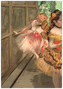 Ballet Dancers Painting Framed Prints - Dancers in the Wings Framed Print by Edgar Degas