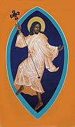 Jesus Christ Icon Painting Metal Prints - Dancing Christ Metal Print by Mark Dukes