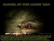 Micro Art Sculpture Posters - Daniel In The Lions Den Info Photo No.1  Poster by Phillip H George