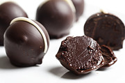 Chocolates Prints - Dark Chocolate truffles Print by Ilan Amihai