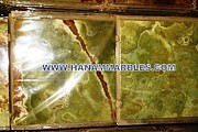 Blocks Ceramics - Dark Green Onyx Tiles by Hanam Marble Industries
